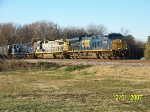 CSX 5476 leads northbound grain train