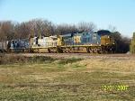 CSX 5476 leads northbound grain train