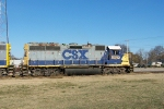 CSX 6092 leads yard job