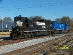 NS 7017 leads set of light engines westbound