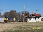 CSX train Q595 passes depot