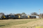 Northbound CSX train Q688 heads toward river bridge