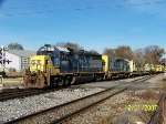 CSX 6918 leads southbound work train