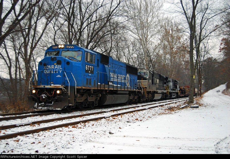 512 (11R) Southbound 12/2/2007 with Conrail Blue in the Lead