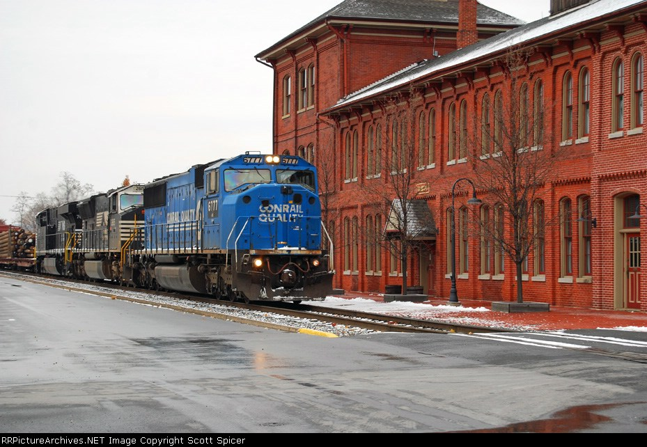 NS 11R Southbound on Buffalo Line through Sunbury, PA 12/2/07