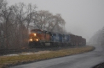 NS SW0T at cruising speed, passing through Herndon, Pa as the snow starts to fly!