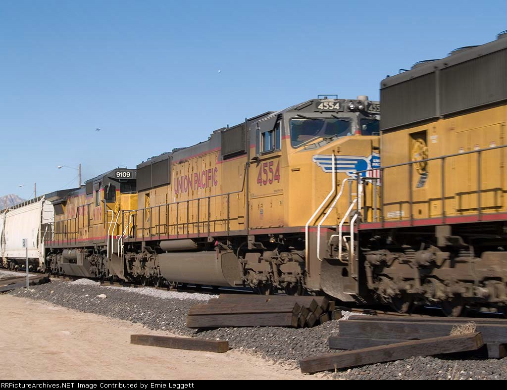 UP 4554 #2 power in an EB manifest at 12:23pm