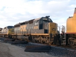 CSX 8035 #4 power in an EB doublestack at 4:46pm