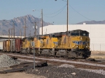 UP 5531 leads an EB manifest switching group at 1:07pm