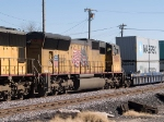 UP 5005 #3 power in a WB doublestack at 1:12pm