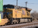 UP 7649 rear DPU in a WB doublestack at 2:01pm