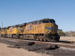 UP 5498 leads an EB doublestack at 2:17pm