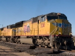 UP 5130 leads an EB doublestack at 3:50pm