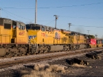 UP 7758 #3 power in a WB doublestack at 4:20pm