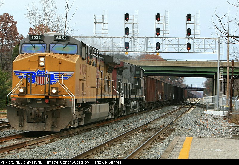 UP 6032 & 6231 (ex-SP) begin their westward journey with empties