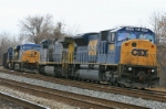 CSX 4589 & 469 were originally going to shove this coal train but the dispatcher sent them around to pull