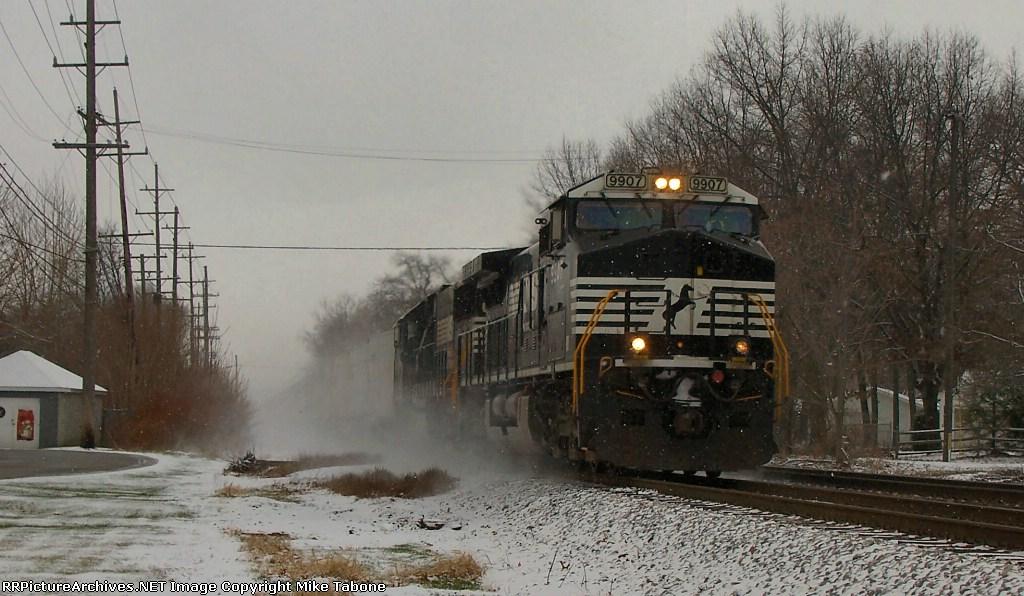 NS 9907 dashing through the snow