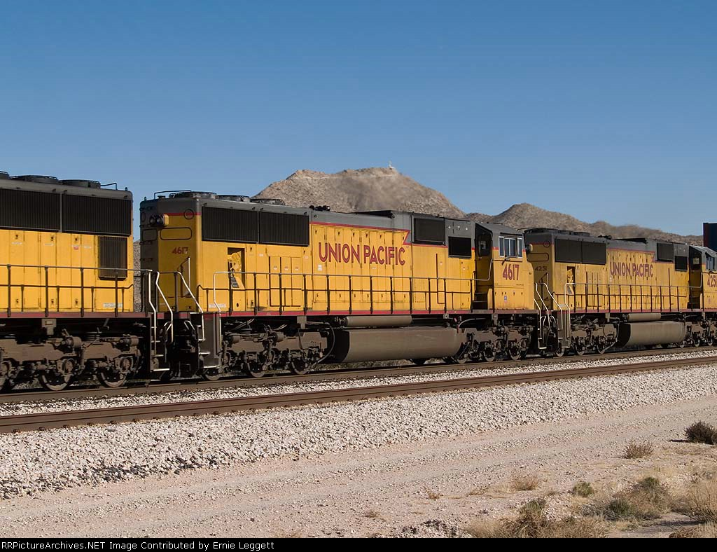 UP 4617 #2 power in a WB doublestack at 1:30pm