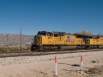 UP 4873 leads a WB doublestack at 1:34pm