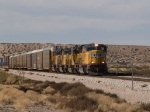 UP 5003 leads an EB autorack/doublestack at 1:21pm
