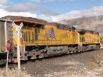 UP 7655 #1 rear DPU in a WB coal train at 1:36pm
