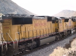 UP 4564 #2 power in an EB doublestack at 1:37pm