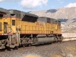 UP 8017 #2 DPU pusher in a WB grain train at 2:06pm