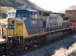 CSX 7814 #5 power in an EB doublestack at 12:52pm