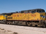 UP 9826 #4 power in an EB doublestack at 1:01pm