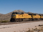 UP 4088 leads a WB doublestack at 1:30pm