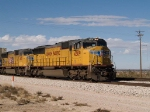 UP 4309 leads an EB doublestack at 12:39pm