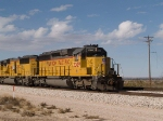 UP 3309 leads an EB doublestack at 1:15pm