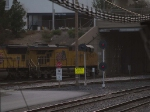 UP 7643 leads a WB doublestack at 3:47pm