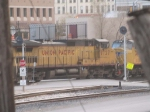 UP 9727 #3 power in a WB doublestack at 3:47pm