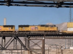 UP 3874 #5 power in a WB doublestack (KATLB) at 1:50pm