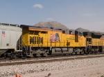 UP 7760 #1 DPU on a WB grain train at 12:54pm
