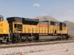 UP 8210 #2 DPU on a WB grain train at 12:54pm