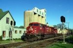 CP 8527 EB at Elm Grove by elevator.