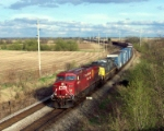 CP 8520 leads the high-priority auto train #185 WB