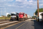 Westbound Soo 6000 has just stopped for a crew change on main 1