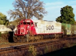 Solo Soo 6034 pulls a WB manifest late on a fall day