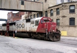 EB Soo 6039 pulls forward out of Muskego Yard in