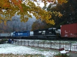 Fall color (and snow) on the curve
