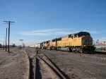 View of whole train in Hold at Casa Grande AZ. UP 2487, UP 2383 & UP 1919