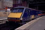Class 91 91014 named Grantham awaits the green