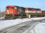 Cn westbound empty coal train running on Cp tracks