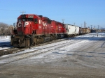 Stalled! these two sd 40-s couldnt handle 110 loaded grain hoppers