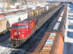 CP 8574 pushing up the rear of this loaded coal train