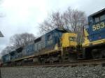 CSX 7615, 7307 & 5834