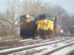 CSXT units pass each other